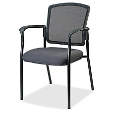Lorell Breathable Mesh Guest Chair Gray