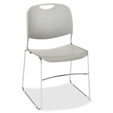 Lorell Lumbar Support Stacking Chairs Gray Set Of 4 By Office Depot Off