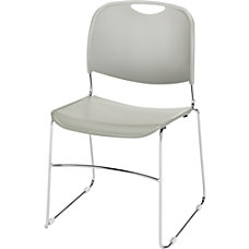 Lorell Lumbar Support Stacking Chairs Gray