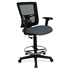Lorell Breathable Mesh Drafting Stool Gray