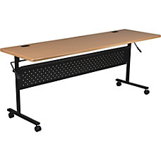 Lorell Flipper Training Table Rectangle 72