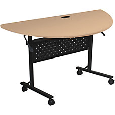 Lorell Flipper Half Round Training Table