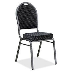 Lorell Upholstered Textured Fabric Stacking Chair