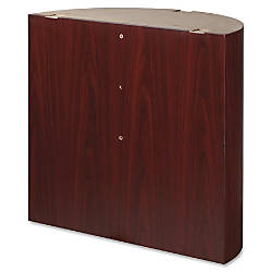 Lorell Modular Mahogany Conference Curved Table