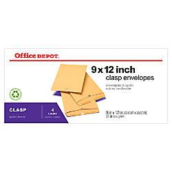 Office Depot Brand Clasp Envelopes 9