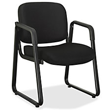 Lorell Black Fabric Guest Chair Black
