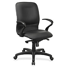 Lorell Executive Mid Back Fabric Contour
