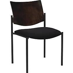Lorell Armless Guest Chair Vinyl Black