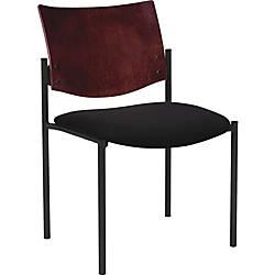 Lorell Guest Chair wArms Vinyl Black