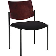Lorell Guest Chair wArms Vinyl Black