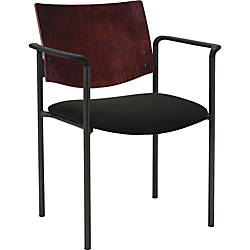 Lorell Guest Chair with Arms Vinyl