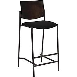 Lorell Cafe Barstool Vinyl Black Seat