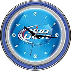 Bud Light 14 Neon Wall Clock