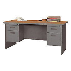 Lorell 67000 Series Double Pedestal Desk
