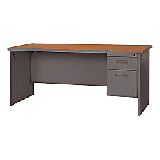 Lorell 67000 Series Single Pedestal Desk