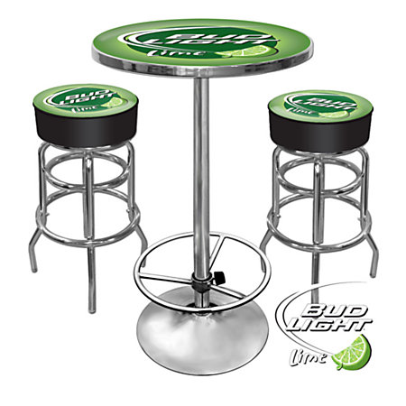Trademark global bud light ultimate game room 28 round for 99 pub table