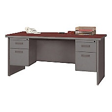 Lorell 67000 Series Double Pedestal Credenza