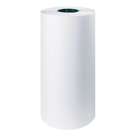 office depot brand white butcher paper roll 40 lb 18 x 1000 by office depot officemax. Black Bedroom Furniture Sets. Home Design Ideas