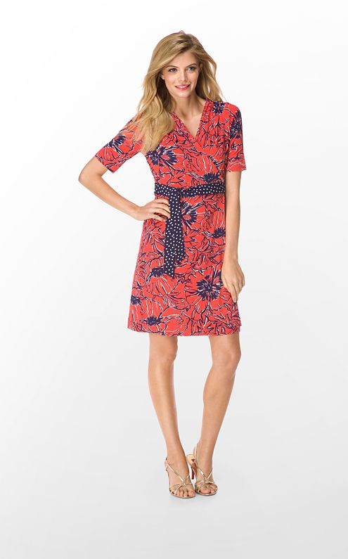 FINAL SALE - Adalie Wrap Dress Printed