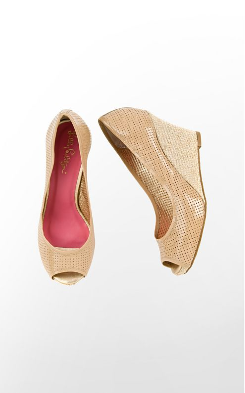 FINAL SALE - Resort Chic Wedge Perforated