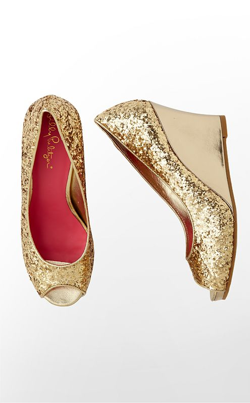 Resort Chic Wedge Glitter