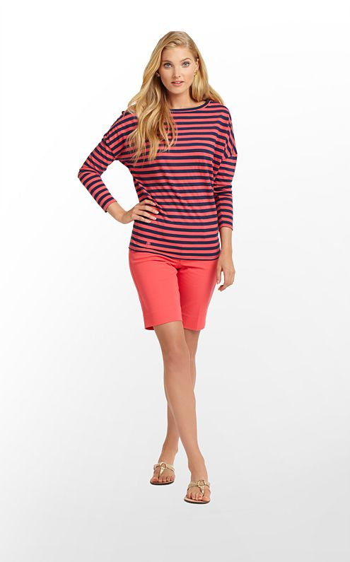 Tina Top Stripe With Logo
