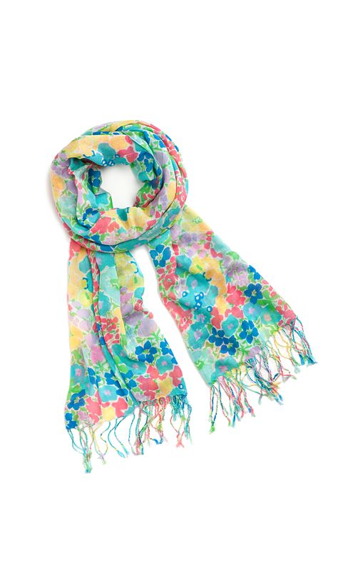 Murfee Scarf - Resort White Spring Fling