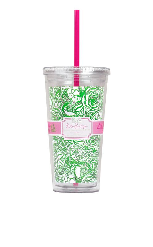 Tumbler With Straw- Kappa Delta