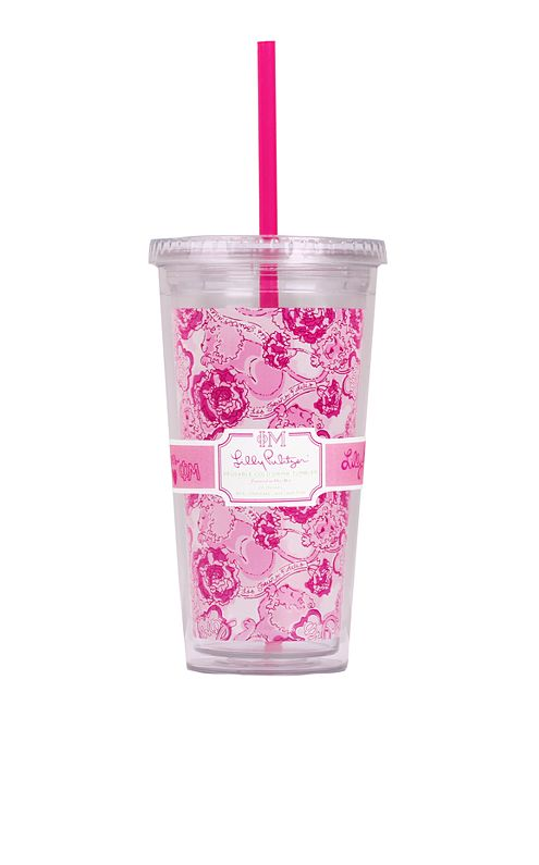Tumbler With Straw- Phi Mu