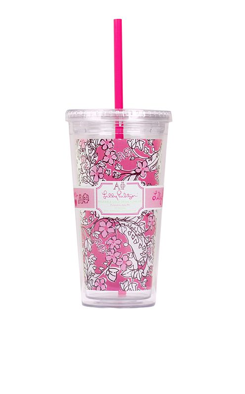 Tumbler With Straw- Alpha Phi