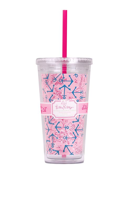 Tumbler With Straw- Delta Gamma