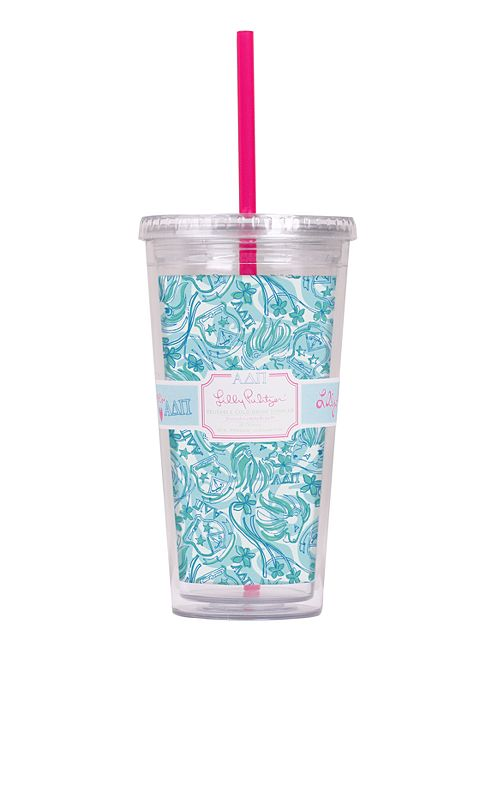 Tumbler With Straw- Alpha Delta Pi