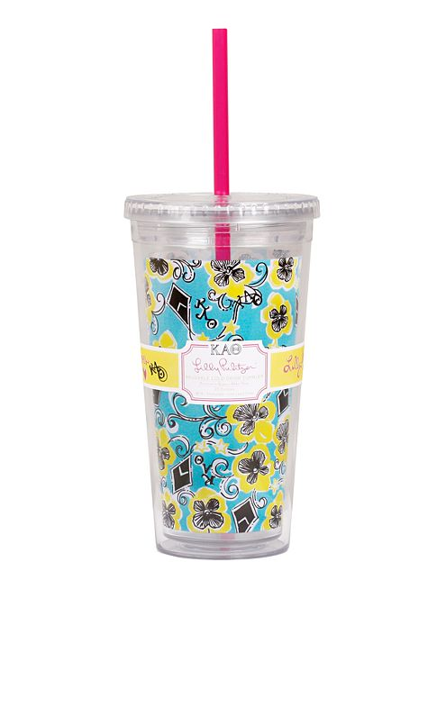 Tumbler With Straw- Kappa Alpha Theta