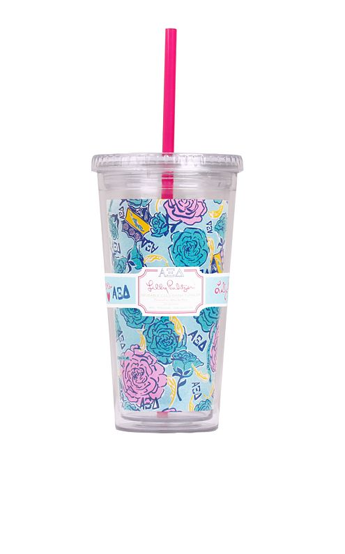 Tumbler With Straw- Alpha Xi Delta