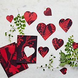 Sun Printed Heart Valentines