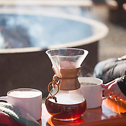 Fireside Coffee with La Colombe