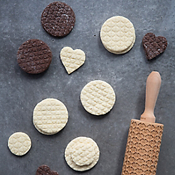 Printed Heart Shortbread Cookies