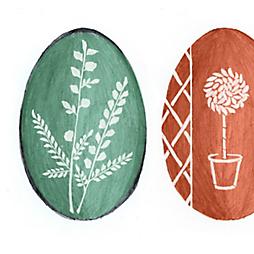 Garden Inspired Wax Resist Eggs