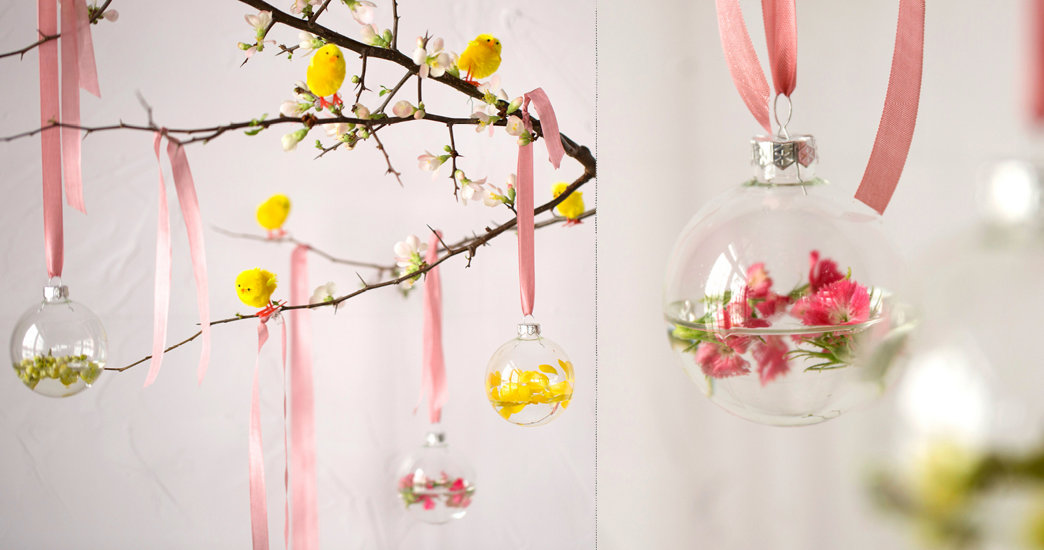 The Easter Tree: Floating Flower Ornaments