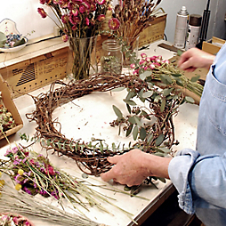 In the Wreath Workshop with Petals & Moss
