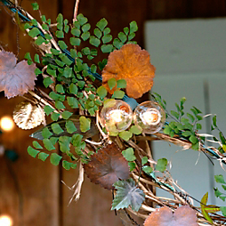 How-To: Lights & Leaves Garland
