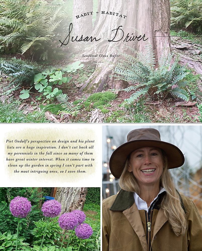 Habit + Habitat: Susan Driver