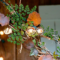 How To: Leaves + Lights Garland