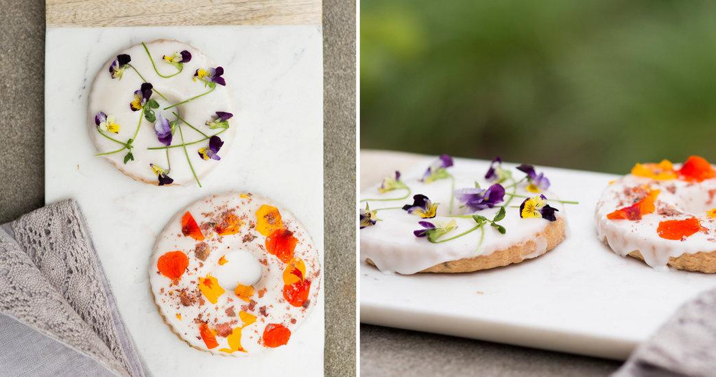 Lavender Shortbread Wreath Cookies