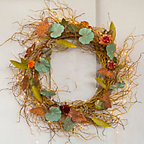 A Layered Autumn Wreath