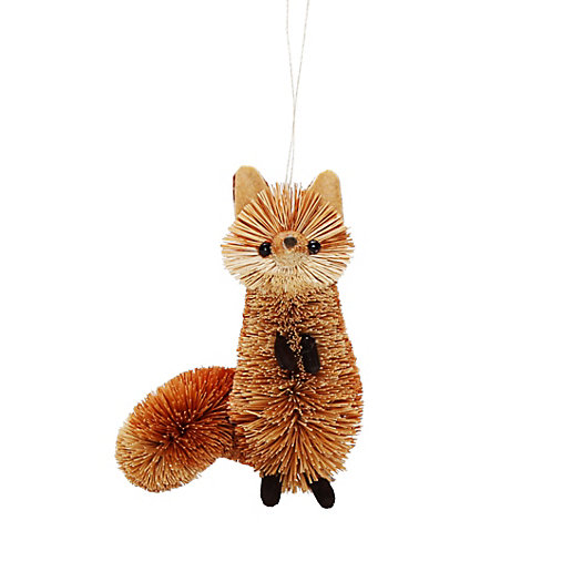 Bristle Brush Fox Ornament