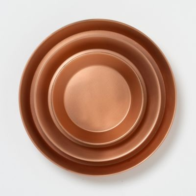Polished Copper Tray, Circle