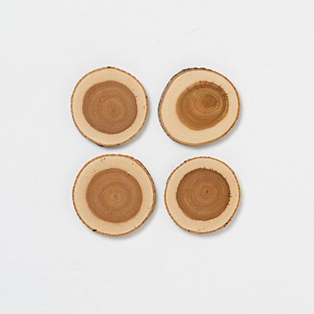 Hickory Coaster Set
