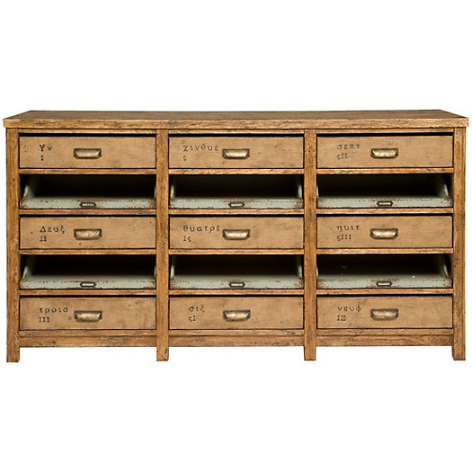 Nine Drawer Console