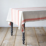 Red Striped Tablecloth